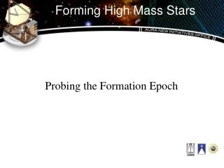 Forming High Mass Stars