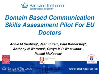 Domain Based Communication Skills Assessment Pilot For EU Doctors