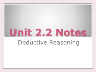 Unit 2.2 Notes