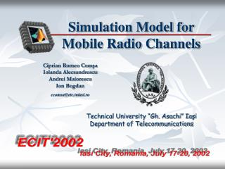 Simulation Model for Mobile Radio Channels