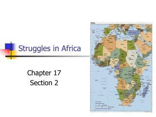 Struggles in Africa