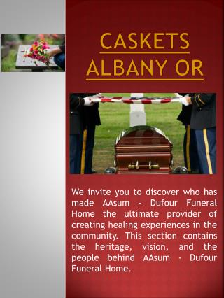Casket Albany OR