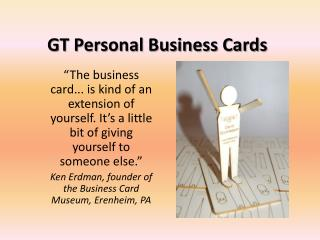 GT Personal Business Cards