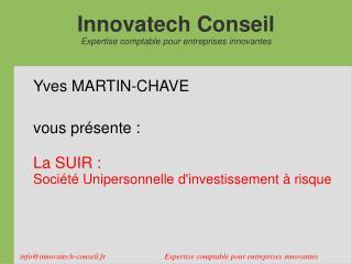 Innovatech Conseil Expertise comptable pour entreprises innovantes