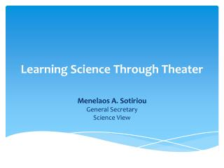 Learning Science Through Theater