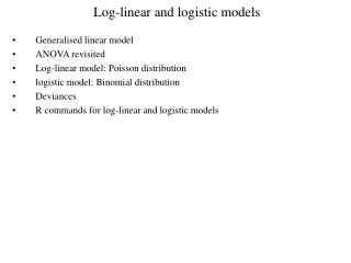 Log-linear and logistic models