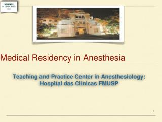 Medical Residency in Anesthesia