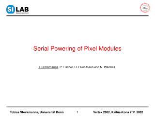 Serial Powering of Pixel Modules
