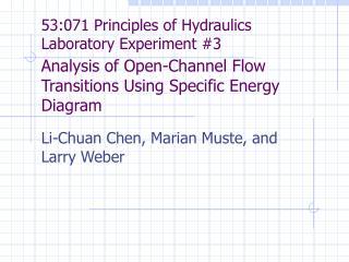Li-Chuan Chen, Marian Muste, and Larry Weber