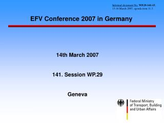 EFV Conference 2007 in Germany