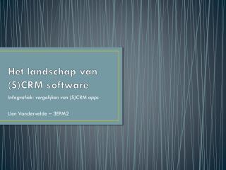 Het  landschap van (S)CRM  software