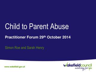 Child to Parent Abuse