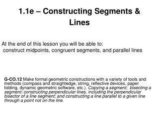 1.1e – Constructing Segments & Lines