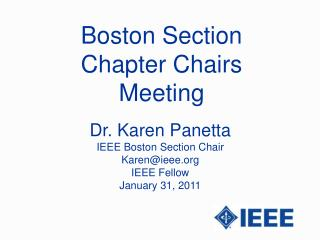 Boston Section Chapter Chairs Meeting