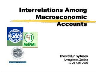 Interrelations Among Macroeconomic Accounts