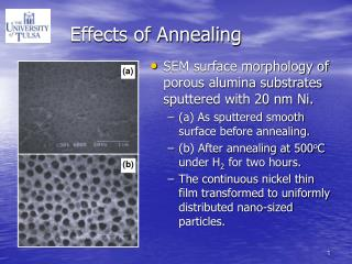 Effects of Annealing