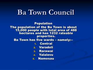 Ba Town Council