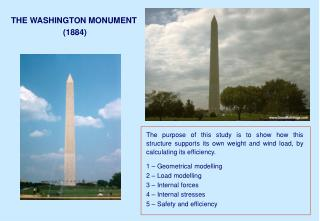 THE WASHINGTON MONUMENT  (1884)