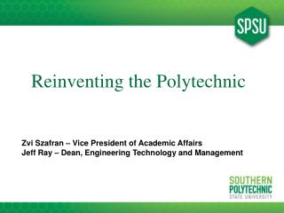 Reinventing the Polytechnic