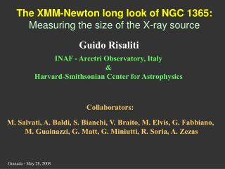 The XMM-Newton long look of NGC 1365: Measuring the size of the X-ray source