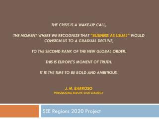 SEE Regions 2020 Project