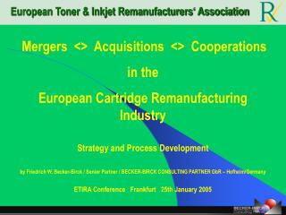 European Toner & Inkjet Remanufacturers' Association