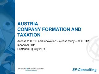 Austria Company  formation and taxation