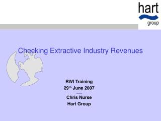 Checking Extractive Industry Revenues