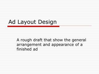 Ad Layout Design