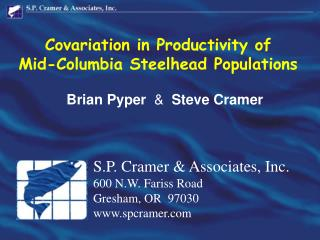Covariation in Productivity of Mid-Columbia Steelhead Populations