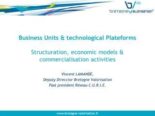 Vincent LAMANDE,   Deputy Direcctor Bretagne Valorisation Past president Réseau C.U.R.I.E.