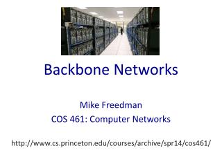 Backbone Networks
