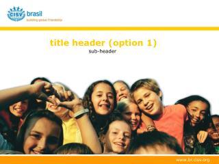 title header (option 1)