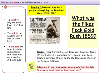 American West GCSE History Revision