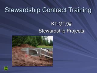Stewardship Contract Training