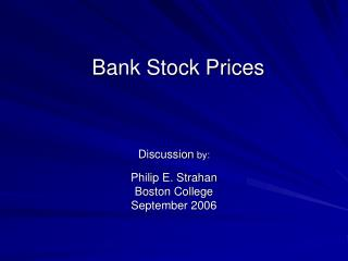 Bank Stock Prices