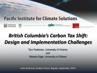 British Columbia's Carbon Tax Shift:  Design and Implementation Challenges
