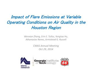 Impact of Flare Emissions at Variable Operating Conditions on Air Quality  in  the Houston Region