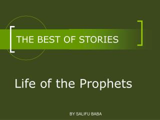 THE BEST OF STORIES