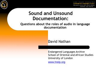 Sound and Unsound Documentation: