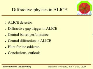 Diffractive physics in ALICE