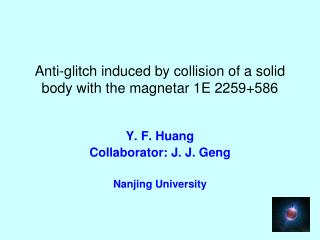 Anti-glitch induced by collision of a solid body with the magnetar 1E 2259+586