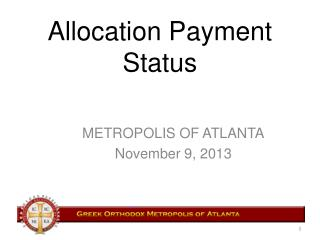 Allocation Payment Status