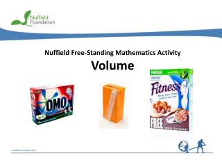 Nuffield Free-Standing Mathematics Activity Volume