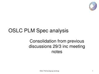 OSLC PLM Spec analysis