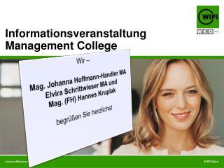 Wir – Mag. Johanna Hoffmann-Handler MA Elvira  Schrittwieser  MA und Mag. (FH) Hannes  Kruplak