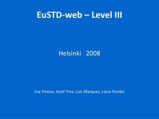 EuSTD-web  – Level III
