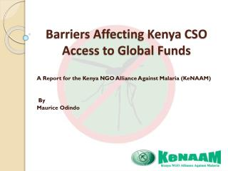Barriers Affecting Kenya CSO Access to Global Funds