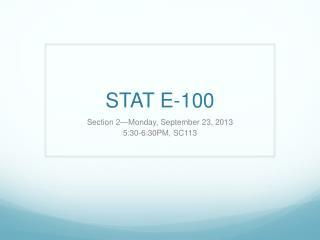 STAT E-100