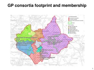 GP consortia footprint and membership